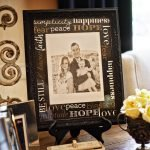 The inspirational words stenciled on the mat of a thrift store frame would look amazing on this year's family picture. Must try! #amakersstudio #Imperfectartisan #familyphoto #inspiration #diycraft #thriftstorefind #stencil