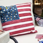 Get festive for the Fourth! In this virtual crafting class, you will get hands on with A Makers' Studio products as you learn how to use your collection of old buttons to DIY this darling Americana Chic pillow! #amakersstudio #imperfectartisan #diycrafts #diyhomedecor #independenceday #americana #4thofjuly