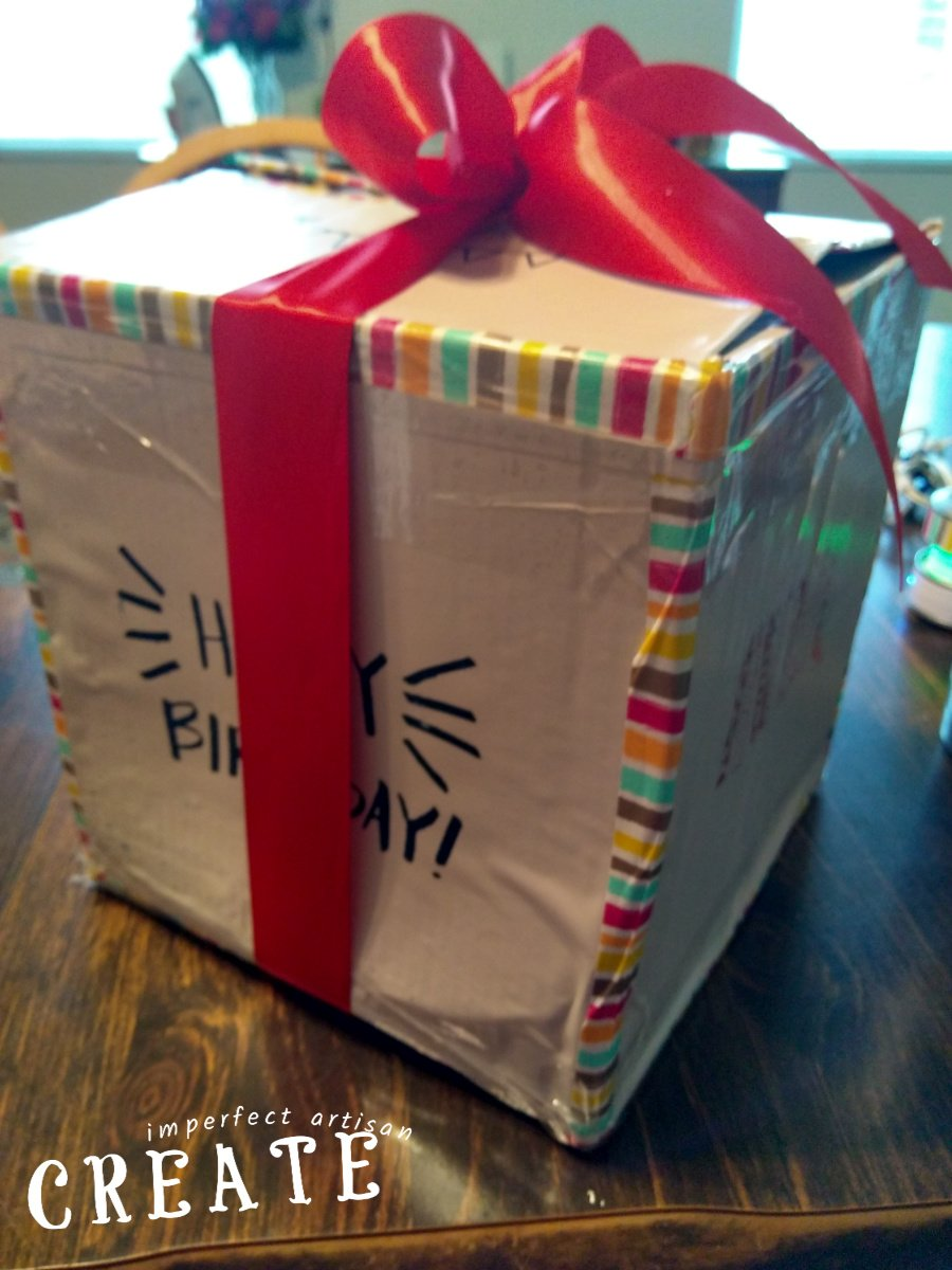 Creating a Stenciled, Reusable Recycled Gift Box 101