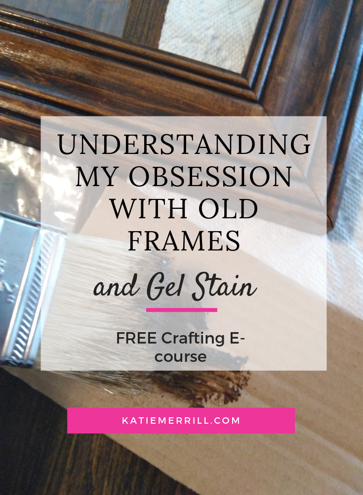 Repurposing, Rescueing, and Refinishing Thrift Store Frames 101 #amakersstudio #imperfectartisan #diy #diycrafts #gelstain