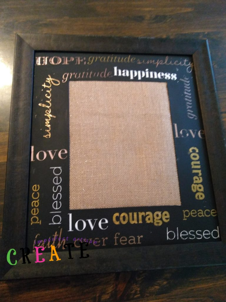 Repurposing an Old Frame and Mat with Inspirational Words 101