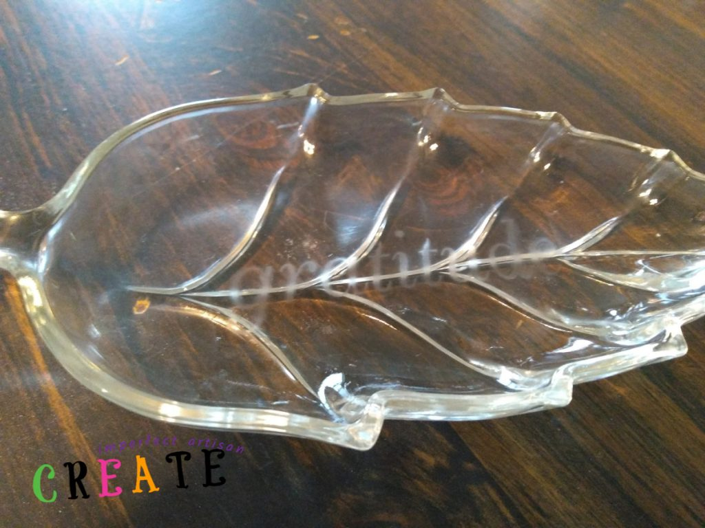 An elegant demonstration of glass etching