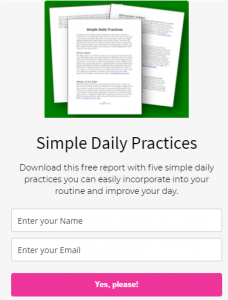 Simple Daily Practices Report