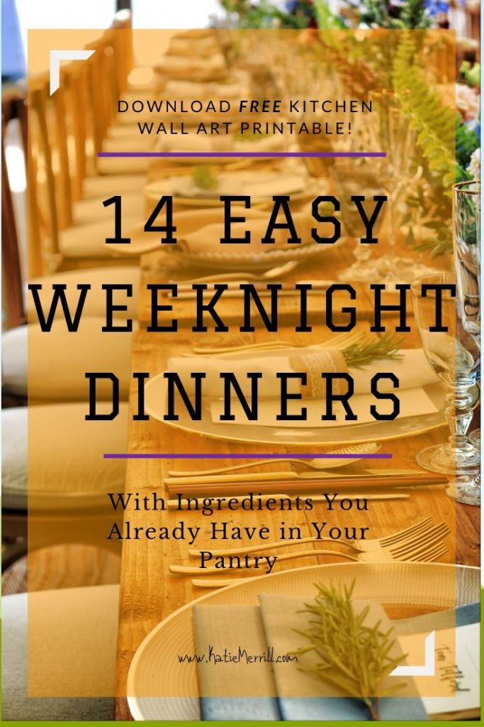Easy Weeknight Dinner Ideas