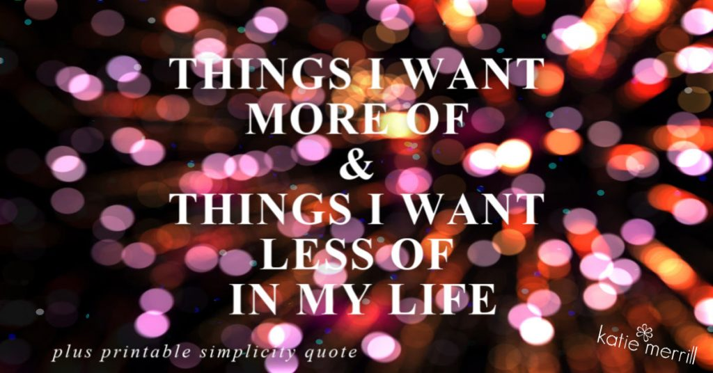 THINGS I WANT