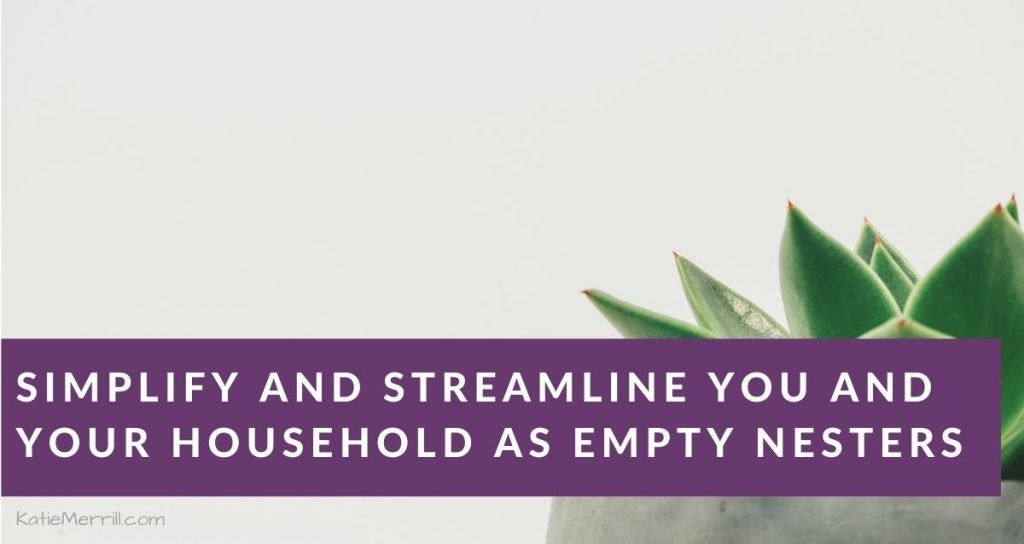 Simplify and Streamline You and Your Household as Empty Nesters | minimalist potted green succulent